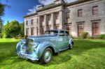 Wedding photoshoot at Camperdown House, Dundee with model Elaine Harris and Bentley Cars